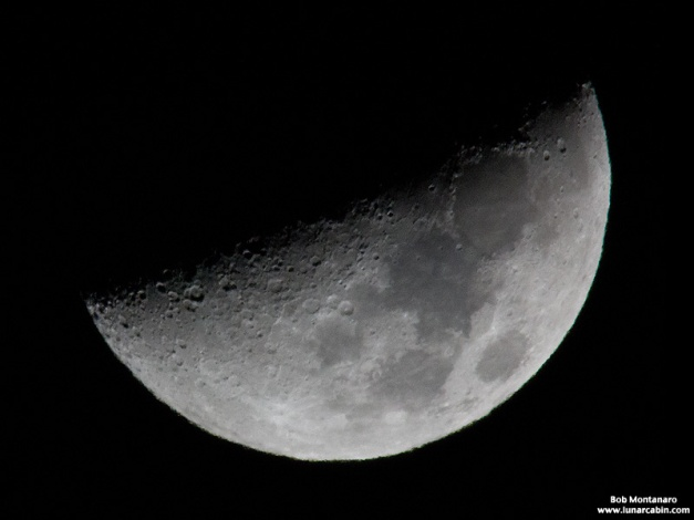 The craggy old Moon photographed on a cold Florida night - 28 November 2014.